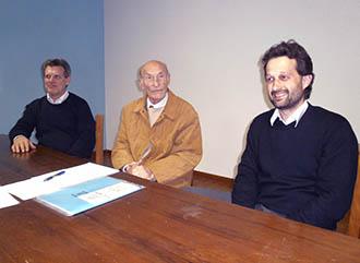 Il Sindaco Lorenzo Dal Toso, il consigliere Bruno Pavan e il fiduciario comunale Anap di Castelgomberto, Franco Facchin
