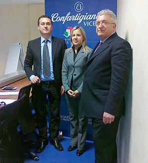 Nerio Dalla Vecchia, l'on. Manuela Lanzarin e Lorenzo Bari