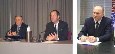 Il ministro Maurizio Sacconi, il presidente della Regione Veneto Luca Zaia e il presidente di Confartigianato del Veneto Claudio Motto