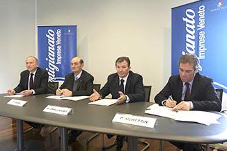 Claudio Miotto, Ferdinando Albini, Giuseppe Sbalchiero e Patrizio Morettin