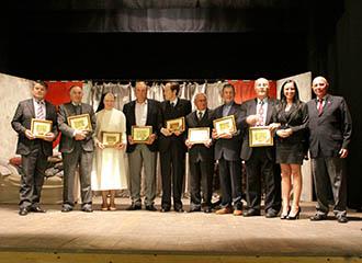 I premiati del 2011; Bruno Zanella è il primo a sinistra