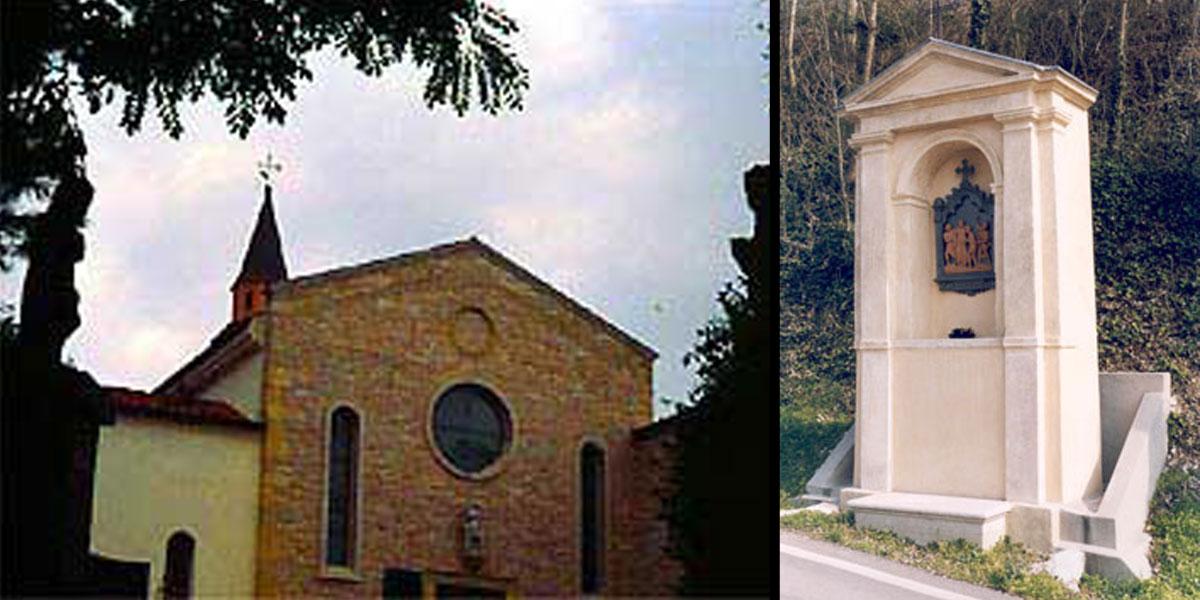 2000 marzo – Barbarano: restauro Via Crucis Convento di San Pancrazio