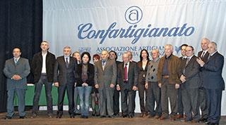La cerimonia di premiazione di una delle ultime edizioni