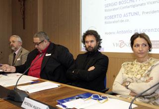 Sergio Boschetto, Roberto Astuni, Carlo Cracco e Morena Martini