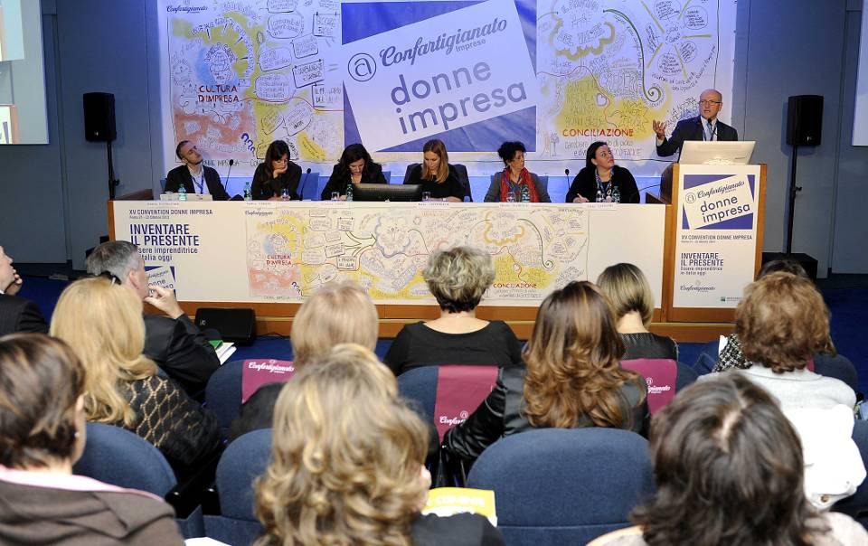Un momento della convention di Donne Impresa a Roma