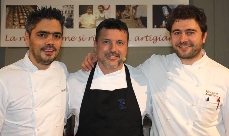 Matteo Baronetto, Morgan Pasqual e Riccardo Antoniolo