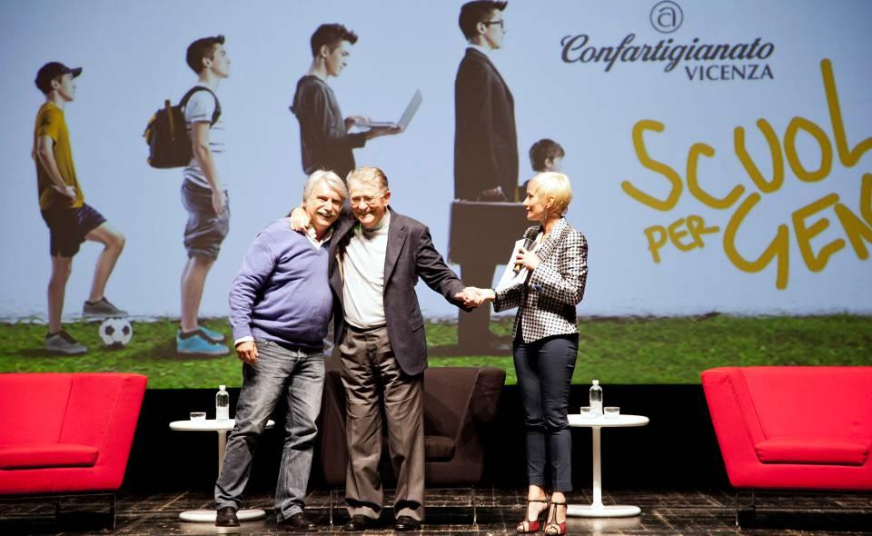 Paolo Crepet, Ermanno Olmi ed Elisa Santucci - Foto Tommy Ilai