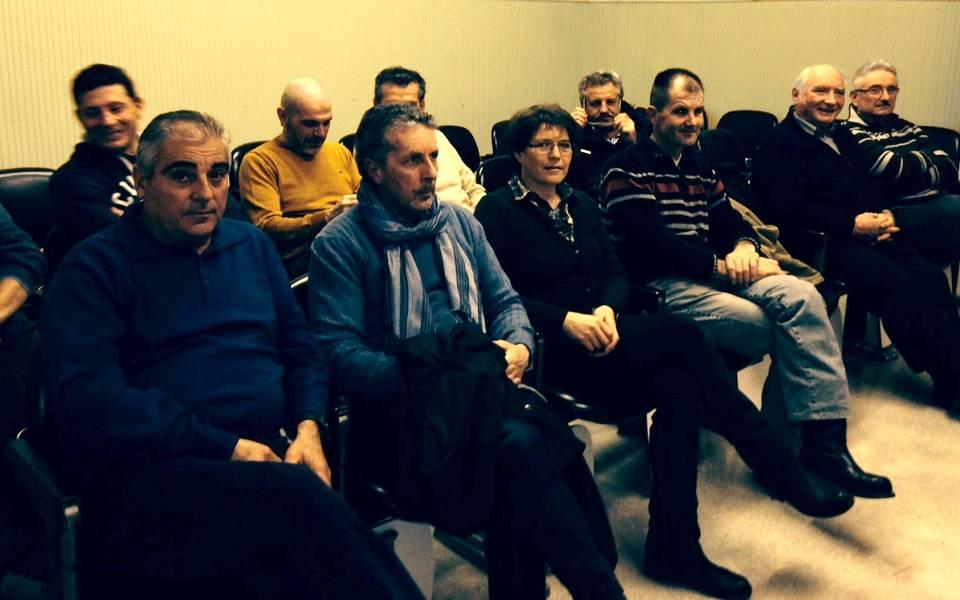 Il pubblico presente all'incontro di Castegnero