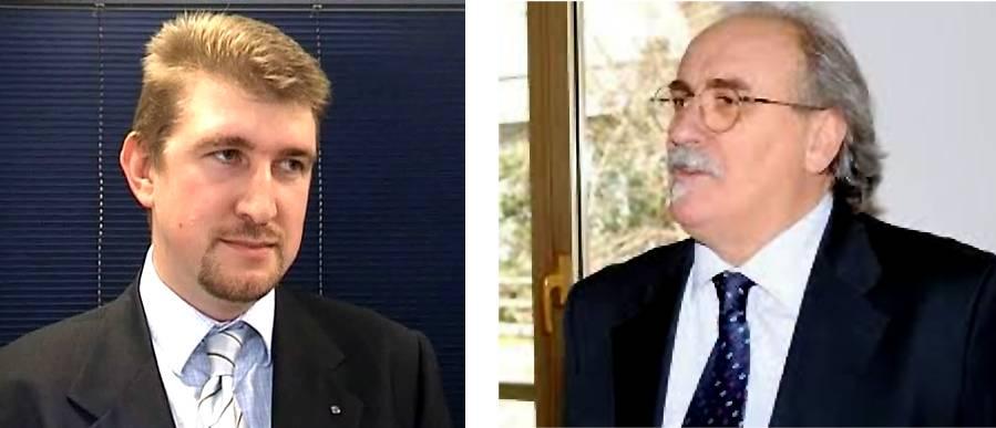 Il presidente Andrea Nardello e il prefetto Eugenio Soldà