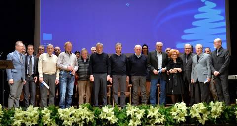 Il gruppo dei premiati - foto di Giuseppe Santamaria Palombo
