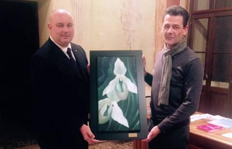 Christian Malinverni, presidente Fondazione Villa Fabris, e Valter Borsato, presidente dell'Associazione Giovanni Boffa