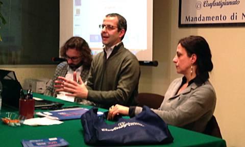 Andrea Rossi, Christian Caleari e Paola De Rosso