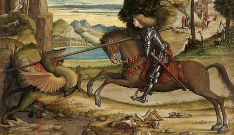 Vittòre Carpaccio - particolare de San Giorgio che lotta con il drago