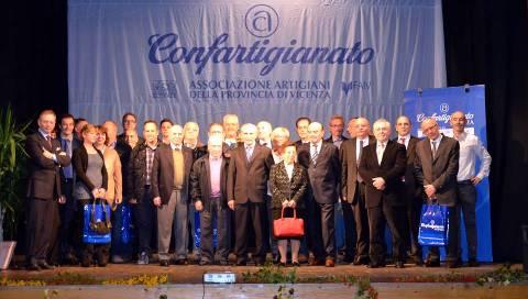 Il gruppo dei premiati della precedente edizione