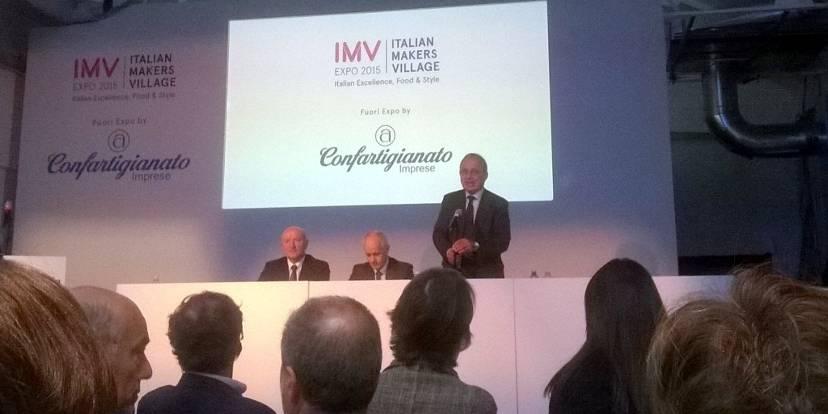 Giorgio Merletti, Luciano Fontana e Cesare Fumagalli all'IMV di Milano