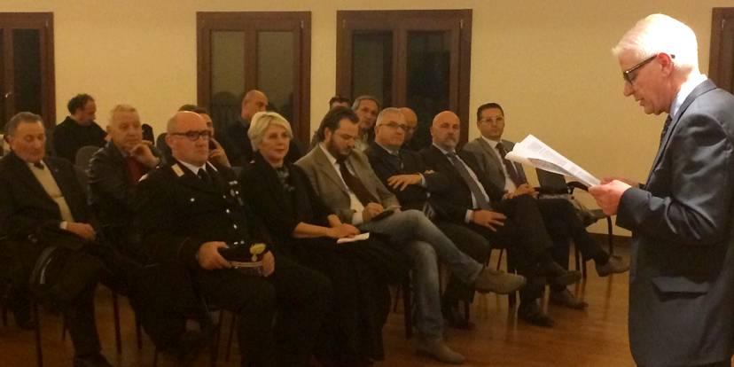 Il presidente Valter Marcon introduce la serata