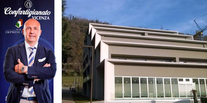 Gianluca Cavion e la nuova sede di Confartigianato a Valdagno