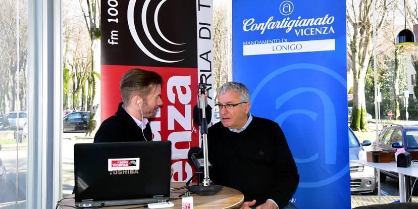 Luigino Bari ai microfoni di Radio Vicenza