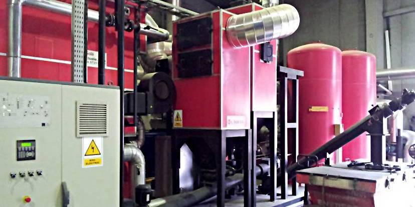 Una centrale a biomassa