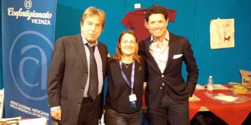 Elisa Gambarato con Fabrizio Del Noce e Matteo Marzotto