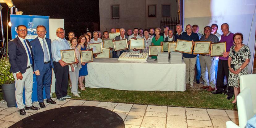 Il gruppo dei premiati