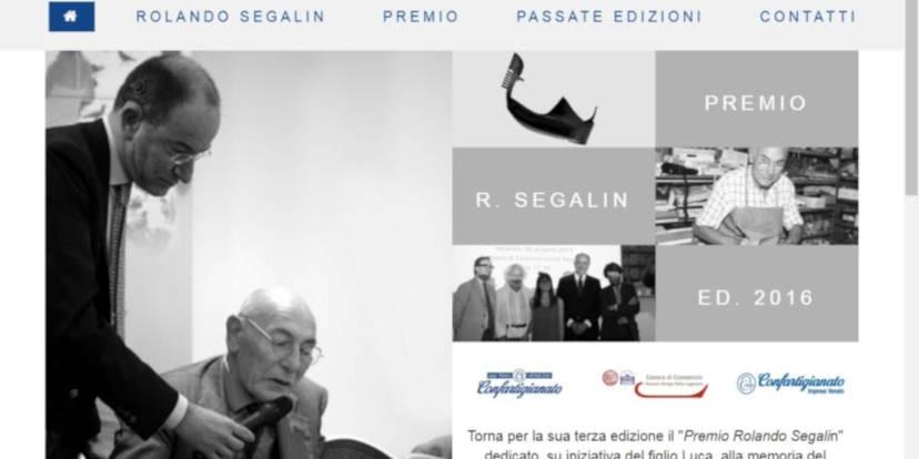 La home page del sito dedicato al premio
