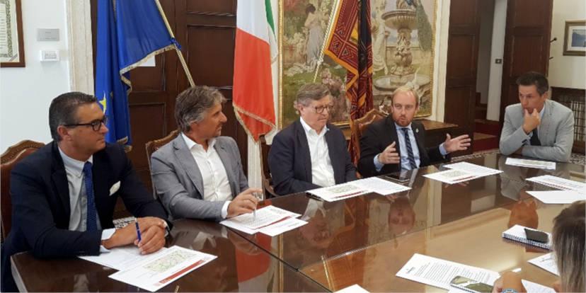 da sinistra, Nerio Dalla Vecchia, Ruggero Camerra, Giorgio Gentilin, Matteo Macilotti e Maurizio Faccio