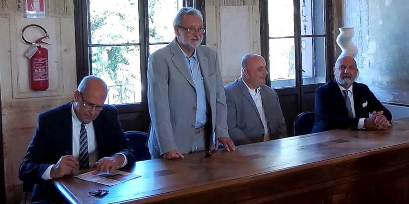 Giovanni Giuliari, Giovanni Casarotto, Christian Malinverni e Gianluca Cavion