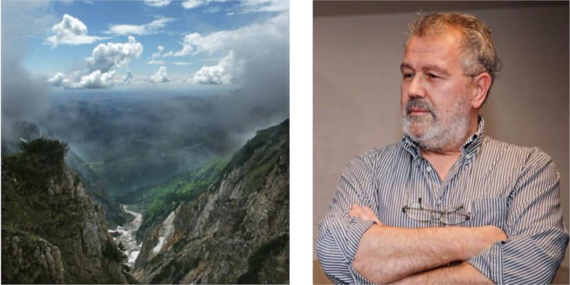 Fabio Sartori e una delle sue fotografie