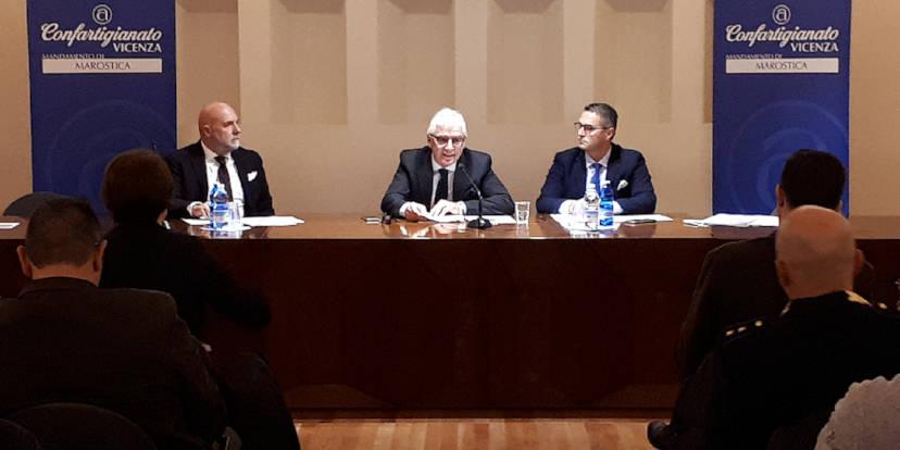 Gianluca Cavion, Franco Valter Marcon e Nerio Dalla Vecchia a Marostica