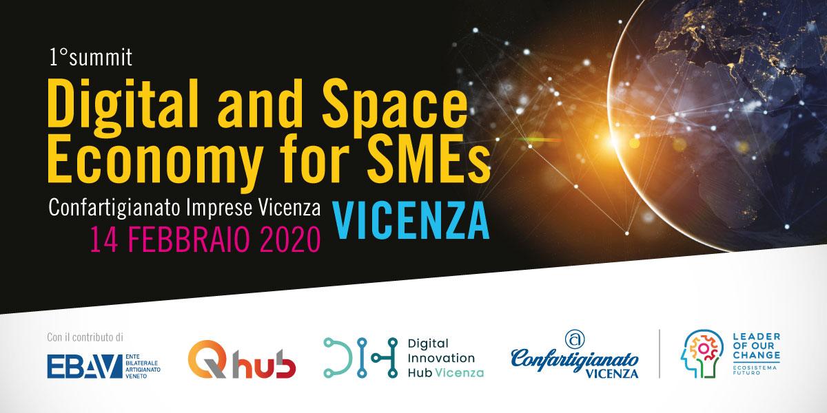 New Space Economy, futuro sostenibile e trasformazione digitale per le PMI.  All'Odeo del Teatro Olimpico venerdì 14 con ospiti internazionali