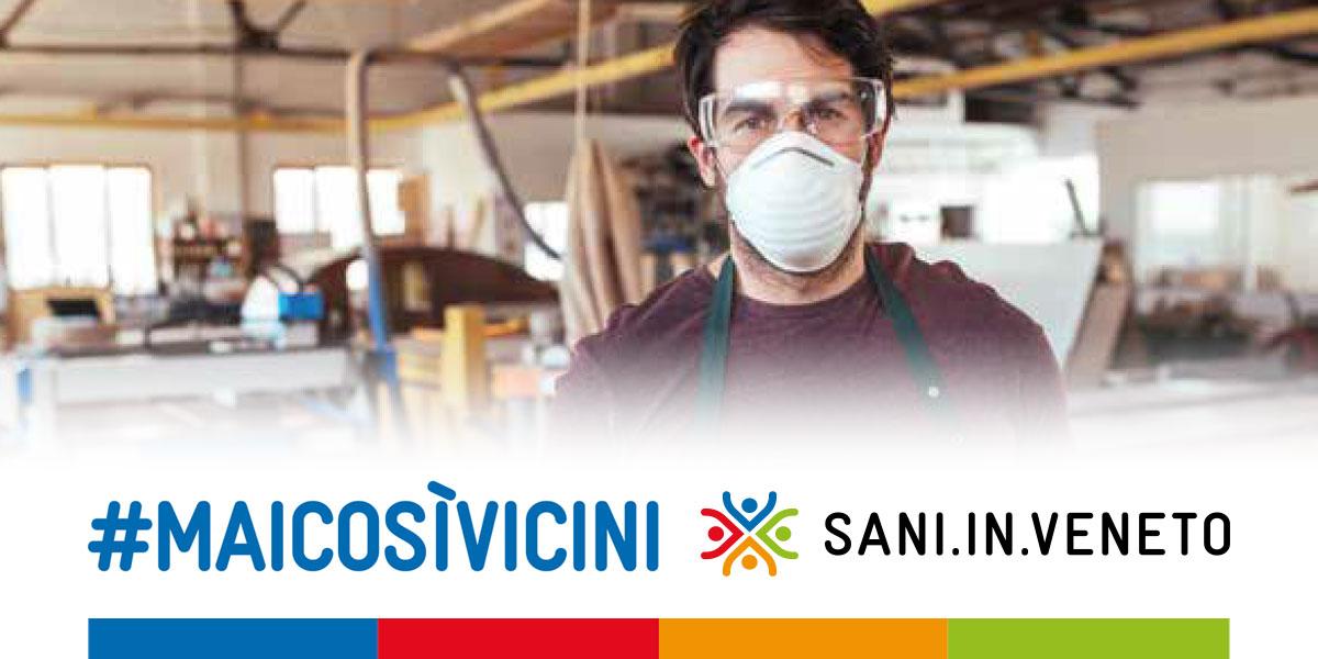 #Maicosìvicini, Sani.In.Veneto stanzia più di 1 milione di euro contro il Coronavirus