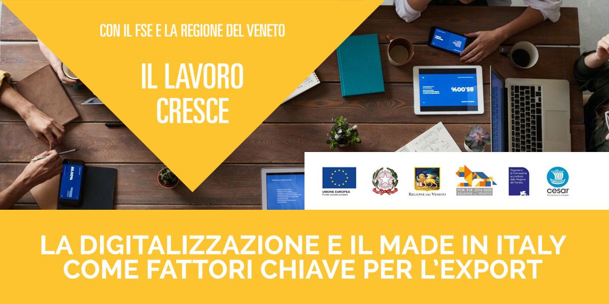 Digitalizzazione e Made in Italy per l'Export