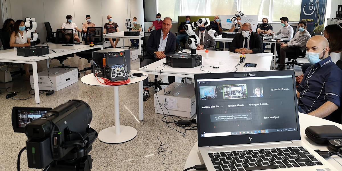 Inaugurato il Learning Center Comau per la formazione 4.0 di giovani e imprenditori al DIH- Digital Innovation Hub di Confartigianato Vicenza