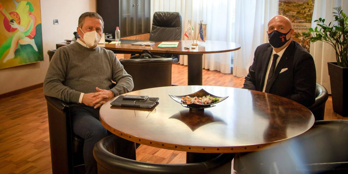 Il presidente di Confartigianato Vicenza, Gianluca Cavion, ha incontrato il presidente del Consiglio Regionale Veneto, Roberto Ciambetti