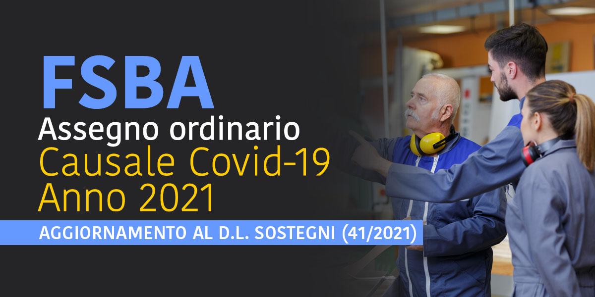 FSBA Assegno ordinario causale Covid-19
