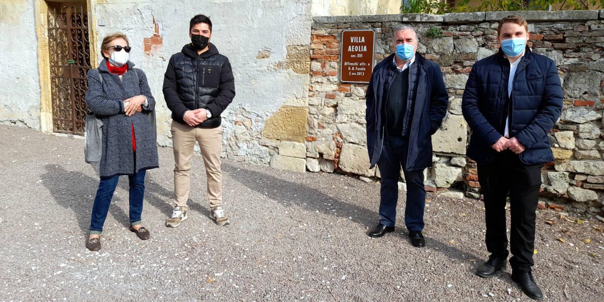 Incontro per progettare l'intervento di restauro a Villa Aeolia, bene storico a Costozza di Longare