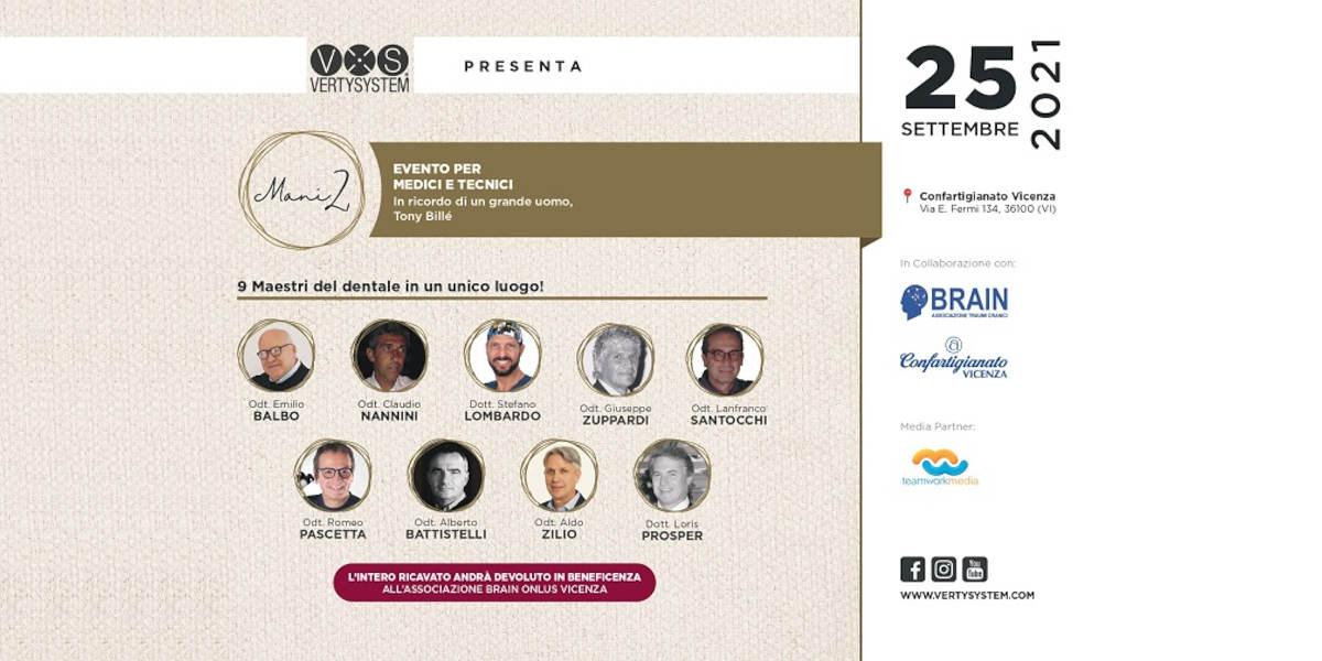 """Odontotecnici: invito all'evento """"Mani 2"""" – 25 settembre al Centro Congressi Confartigianato Imprese Vicenza"""