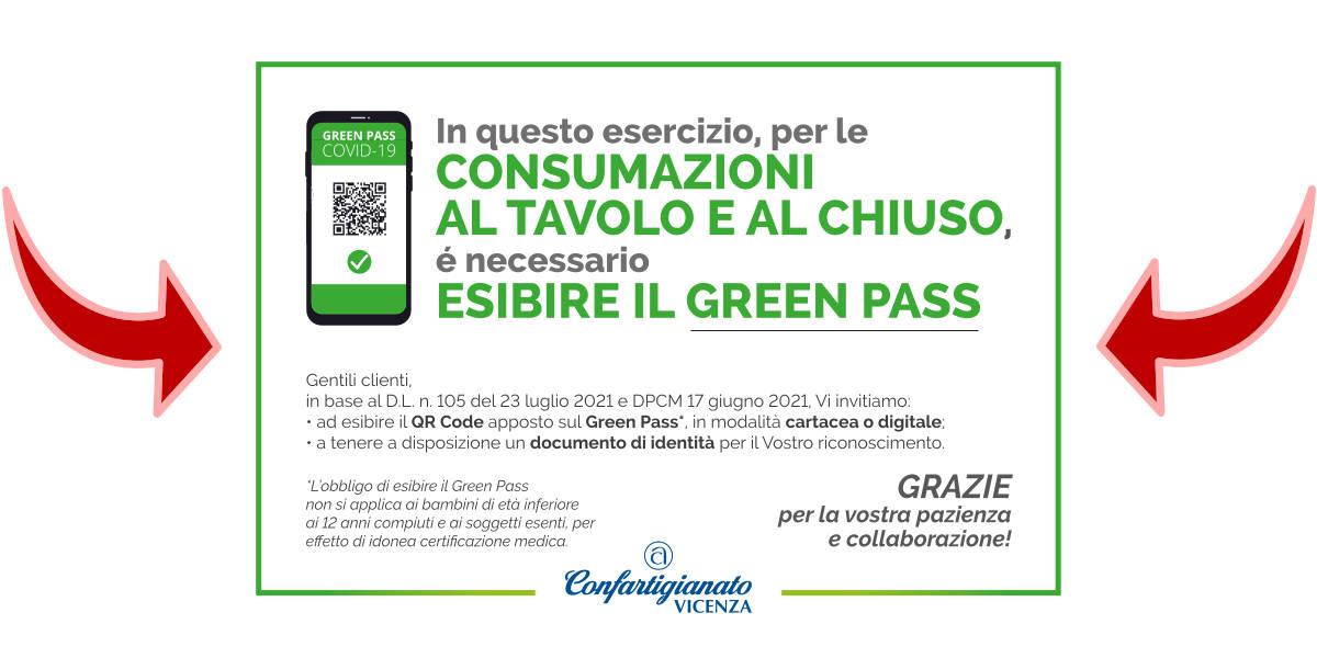 Scatta il Green Pass per le consumazioni al tavolo al chiuso